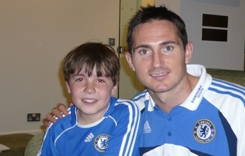 Jake Meets Chelsea Football Team